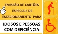 Emissão de cartões especiais para idosos e pessoas com deficiências